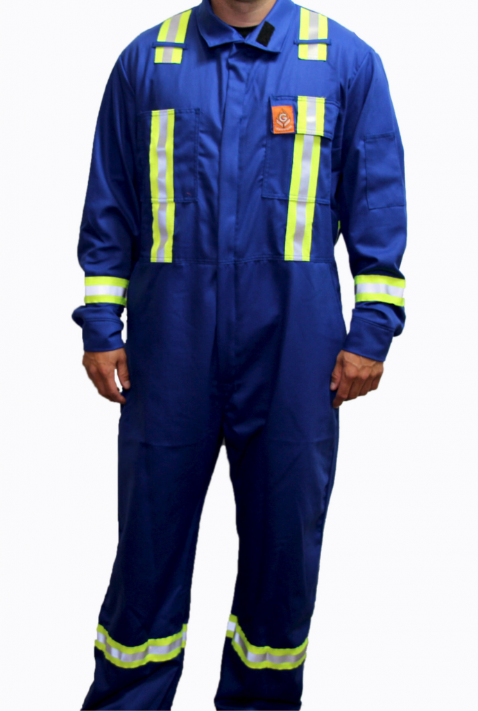 Fort McMurray Coveralls In Royal Blue FR Striped Alberta