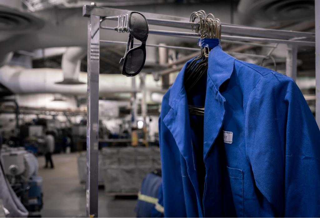 Cleaning workwear is best handled by professionals